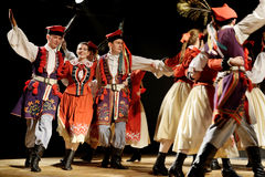 Polish traditional folk dance Stock Photos