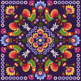 Polish traditional. Polish folk - traditional design with floral stock illustration
