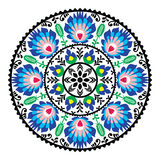 Polish traditional folk pattern in circle Stock Photo