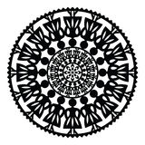 Polish traditional folk pattern in circle with women Royalty Free Stock Photo