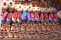 Polish traditional shoes Stock Photo