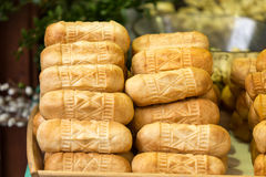 Polish traditional smoked cheese made of salted sheep milk Stock Image
