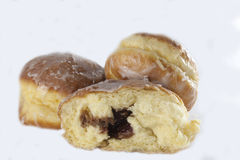 Polish traditional sweets paczki Stock Images