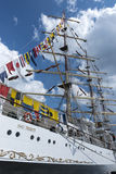 Polish training tall ship Dar Pomorza Stock Photos