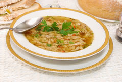 Polish tripe soup (flaki) Royalty Free Stock Images