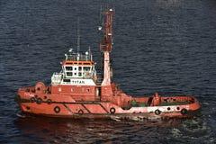 Polish Tug Boat near Danzig, Poland Stock Photo