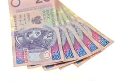 Polish twenty zloty banknotes Stock Photo