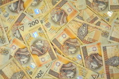 Polish two hundred zloty banknotes Stock Photography