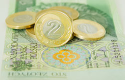 Polish two zloty coins Stock Image