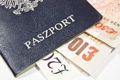 Polish up your passport and money Stock Images