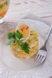 Polish vegetable salad Royalty Free Stock Photography