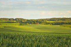 Polish village Landscape Stock Image