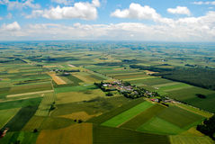 Polish Village. S seen from above, central Poland Stock Images