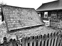 Polish village, vintage architecture. Royalty Free Stock Image
