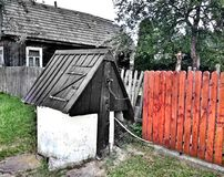 Polish village, vintage architecture. Royalty Free Stock Images
