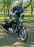 Polish vintage Junak motorcycle Royalty Free Stock Image