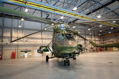 Polish W-3 HELICOPTER Royalty Free Stock Image