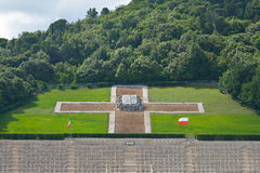 Polish War Cemetery in Cassino, Italy Stock Image
