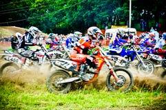 Polish Western Zone Motocross Championship Round VI Poland Royalty Free Stock Photo