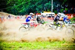 Polish Western Zone Motocross Championship Round VI Poland Royalty Free Stock Photography
