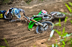 Polish Western Zone Motocross Championship Round VI Poland Stock Photo
