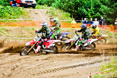 Polish Western Zone Motocross Championship Round VI Poland Royalty Free Stock Photo