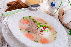 Polish White Borscht Royalty Free Stock Photography