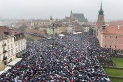 Polish women strike against abortion ban Stock Photos