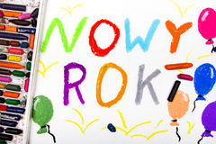Polish words `New Year` Royalty Free Stock Photography