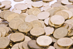 Polish Zlote PLN coins Royalty Free Stock Image