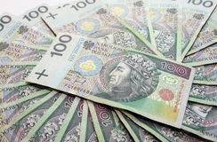 Polish zloty Stock Images