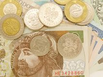 Polish zloty Royalty Free Stock Images