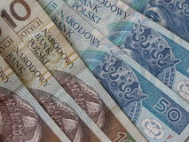 Polish zloty banknotes Royalty Free Stock Photo