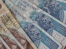 Polish zloty banknotes Royalty Free Stock Image