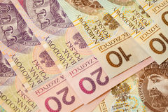 Polish zloty banknotes currency as background Royalty Free Stock Images