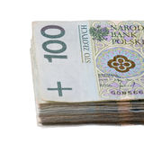 Polish zloty banknotes Stock Images
