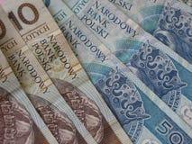 Polish zloty banknotes Royalty Free Stock Images
