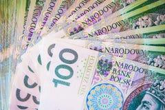 Polish Zloty Bills Stock Image