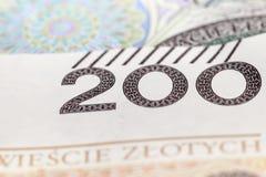 Polish Zloty closeup Royalty Free Stock Photos