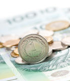 Polish zloty coin Stock Photography