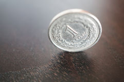 Polish Zloty coin Stock Photo
