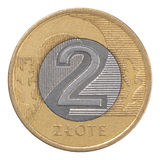 Polish Zloty coin Stock Images