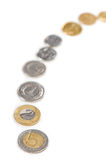 Polish zloty coins Royalty Free Stock Photo