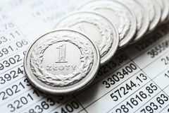 Polish zloty coins Stock Images
