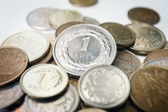 Polish zloty coins Royalty Free Stock Photography
