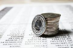 Polish zloty coins Stock Photos