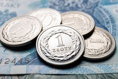 Polish zloty coins Stock Image