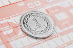 Polish zloty. Polish coins, proof of payment Stock Image