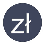 Polish zloty currency symbol icon Royalty Free Stock Images