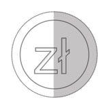 Polish zloty currency symbol icon Stock Image